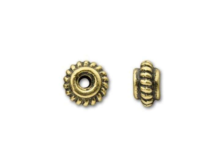 TierraCast Antique Gold 5mm Coiled Heishi Spacer