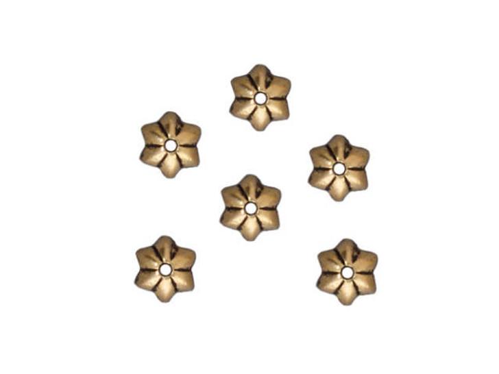 TierraCast Antique Gold 5mm Talavera Star Bead Cap