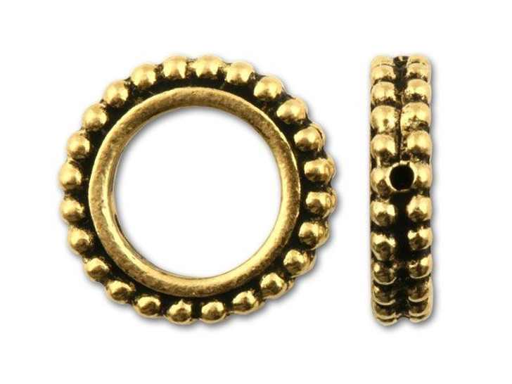 TierraCast Antique Gold 8mm Round Granulated Bead Frame