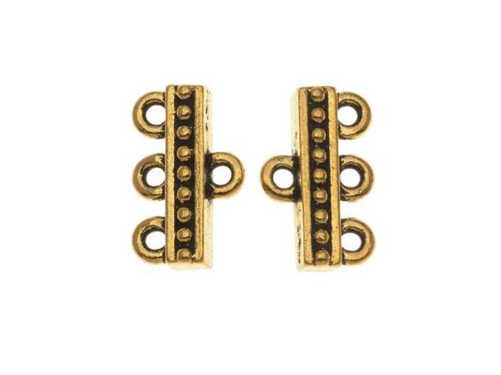 TierraCast Antique Gold Beaded 3-1 Link