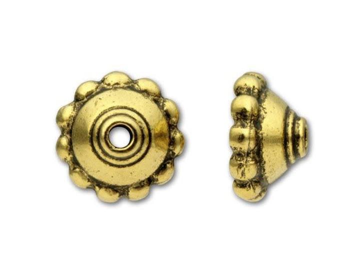 TierraCast Antique Gold Beaded Bead Cap