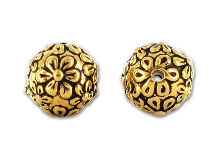 TierraCast Antique Gold Floral Round