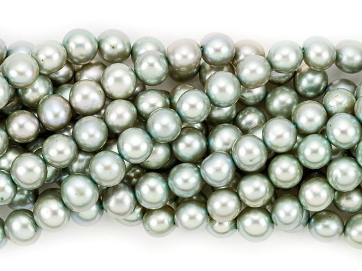 6-6.5mm Gray Green Potato Freshwater Pearl Strand