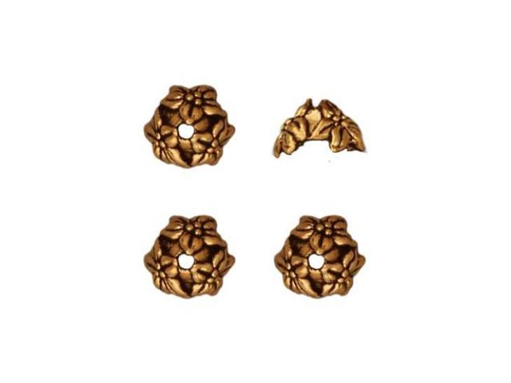 TierraCast Antique Gold Jasmine Bead Cap