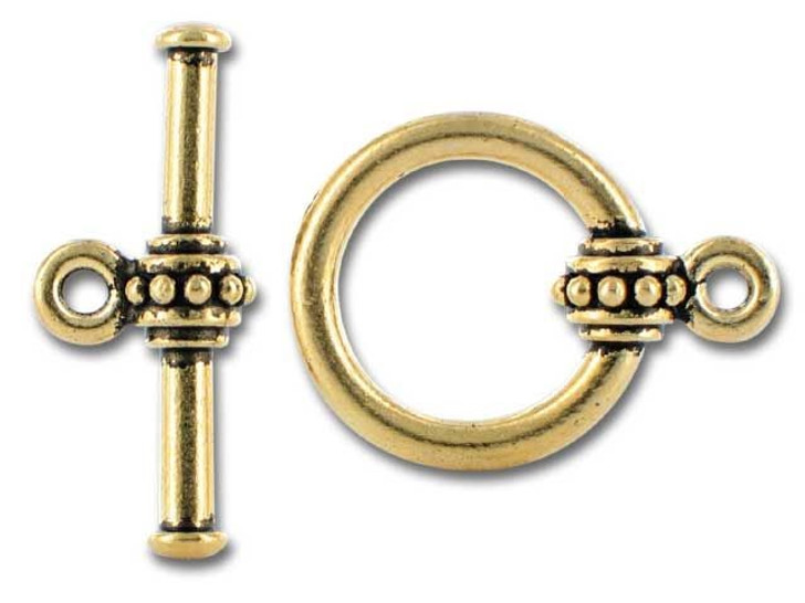 TierraCast Antique Gold Large Beaded Clasp Set