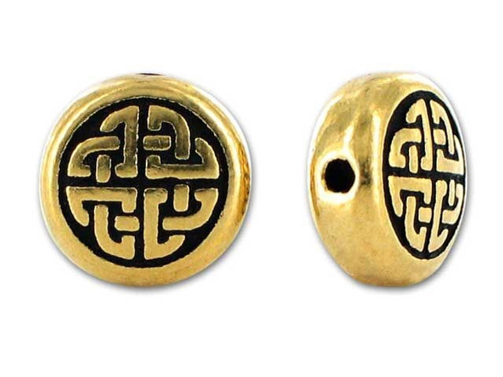 TierraCast Antique Gold Medium Celtic Circle Bead