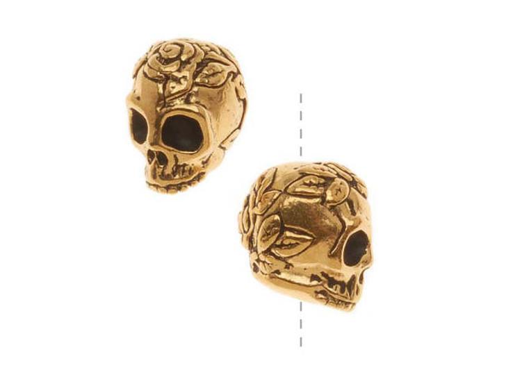 TierraCast Antique Gold Skull Bead