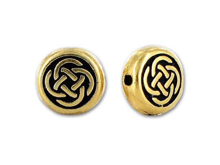 TierraCast Antique Gold Small Celtic Circle Bead