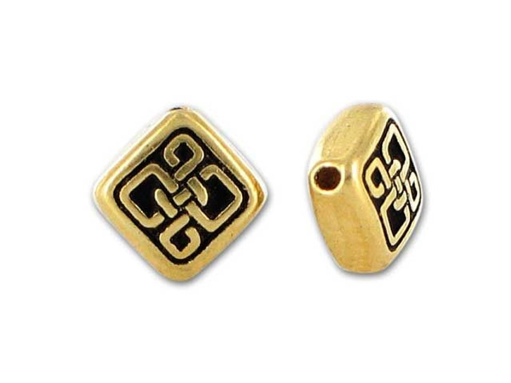 TierraCast Antique Gold Small Celtic Diamond