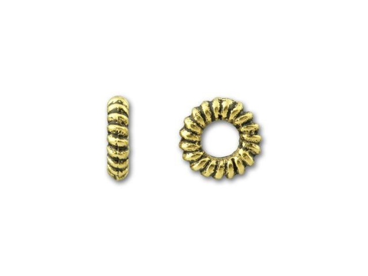 TierraCast Antique Gold Small Coiled Ring Spacer