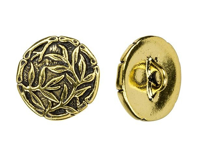 TierraCast Antique Gold-Plated Bamboo Button