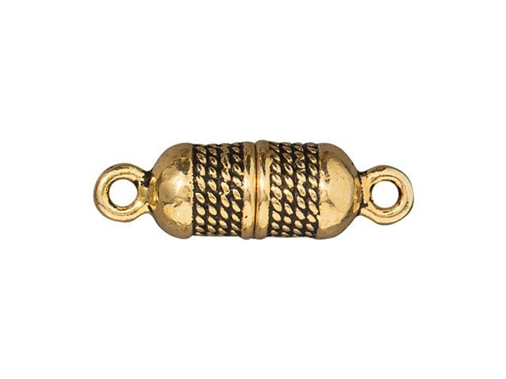 TierraCast Antique Gold-Plated Pewter 5mm Rope Magnetic Clasp Set