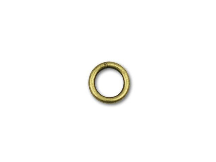 6mm Antique Brass-Plated Closed Jump Ring
