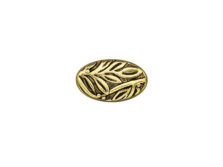 TierraCast Antique Gold-Plated Pewter Botanical Bead