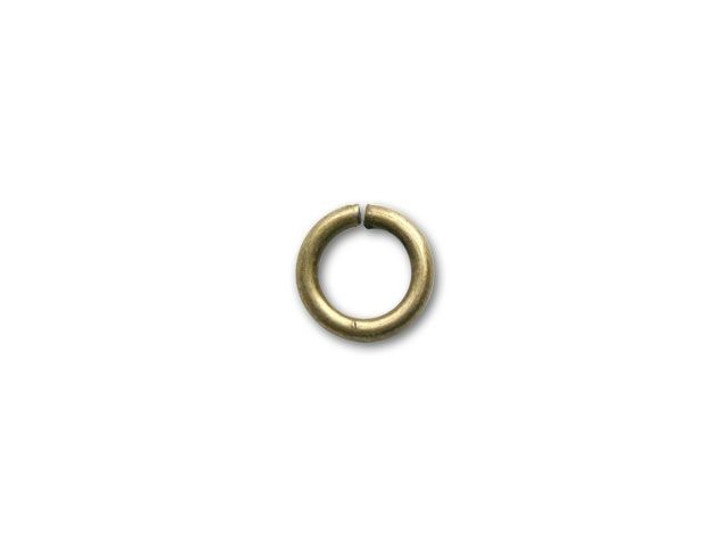 6mm Antique Brass-Plated Open Jump Ring