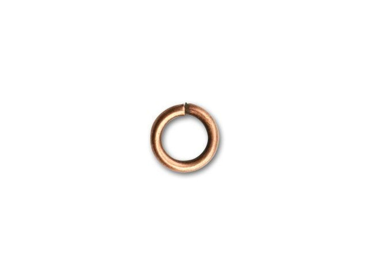 6mm Antique Copper-Plated Open Jump Ring