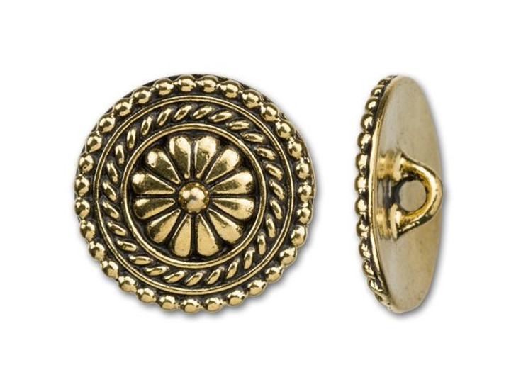 TierraCast Antique Gold-Plated Pewter Large Bali Button