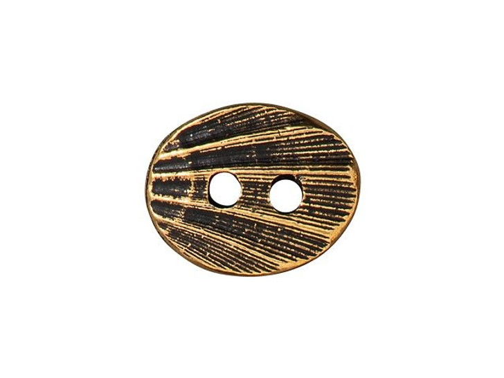 TierraCast Antique Gold-Plated Pewter Oval Shell Button