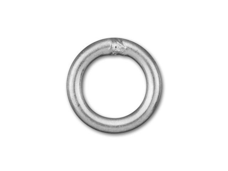 6mm Antique Silver-Plated Closed Jump Ring - 18 Gauge