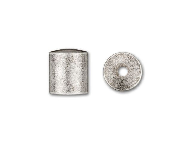 6mm Antique Silver-Plated Cord End Cap
