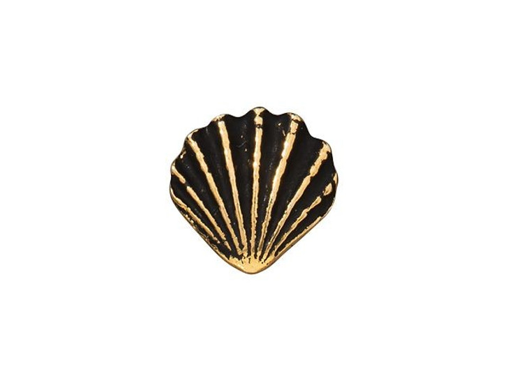 TierraCast Antique Gold-Plated Pewter Scallop Shell Button