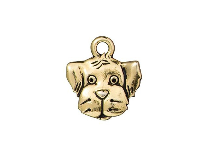 TierraCast Antique Gold-Plated Pewter Spot Dog Charm