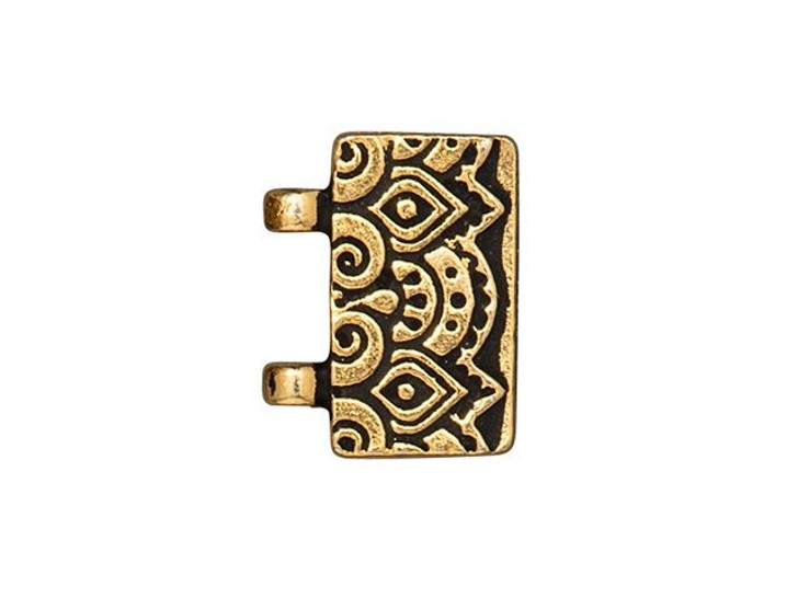 TierraCast Antique Gold-Plated Pewter Temple Magnetic Clasp Set