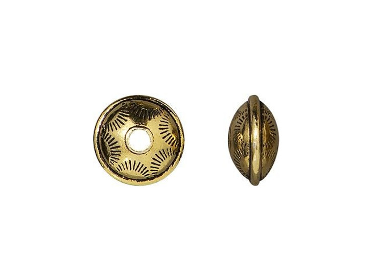 TierraCast Antique Gold-Plated Pewter Western Bead