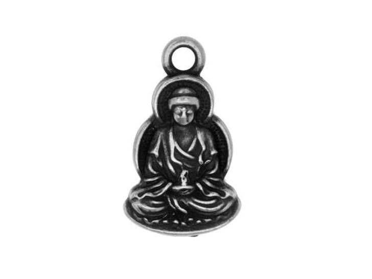 TierraCast Antique Pewter Buddha Charm