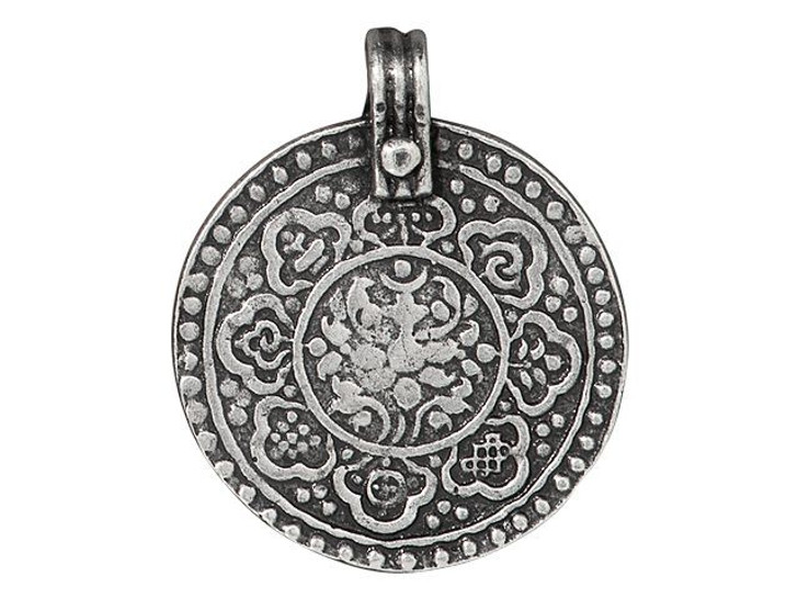 TierraCast Antique Pewter Eightfold Path Pendant