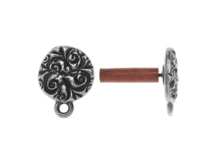 TierraCast Antique Pewter Jardin Post Earrings (Pair)