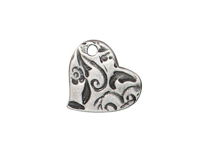 TierraCast Antique Pewter Reversible Amor Heart Charm