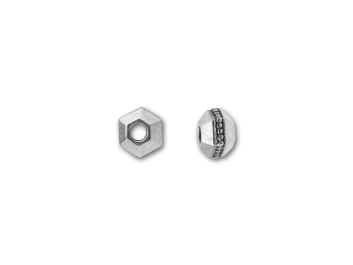 TierraCast Antique Silver 3mm Faceted Spacer