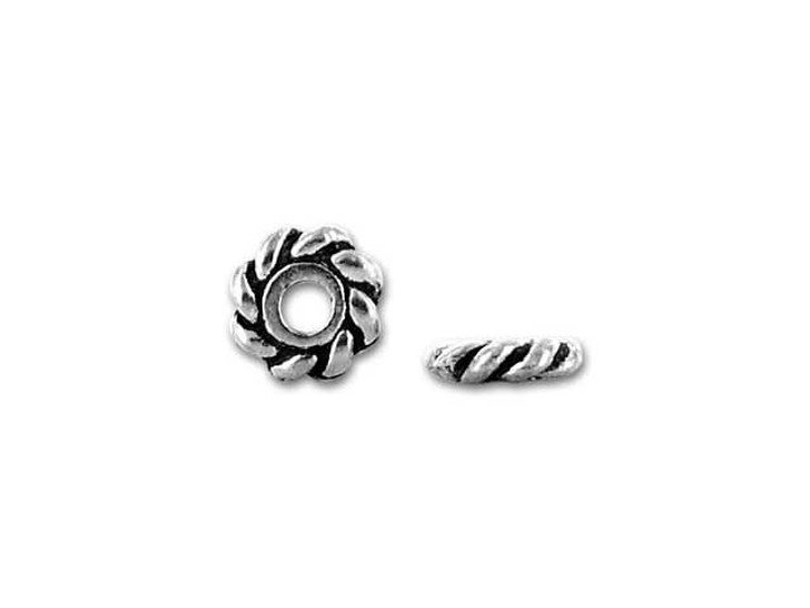 TierraCast Antique Silver 4mm Twist Heishi Spacer