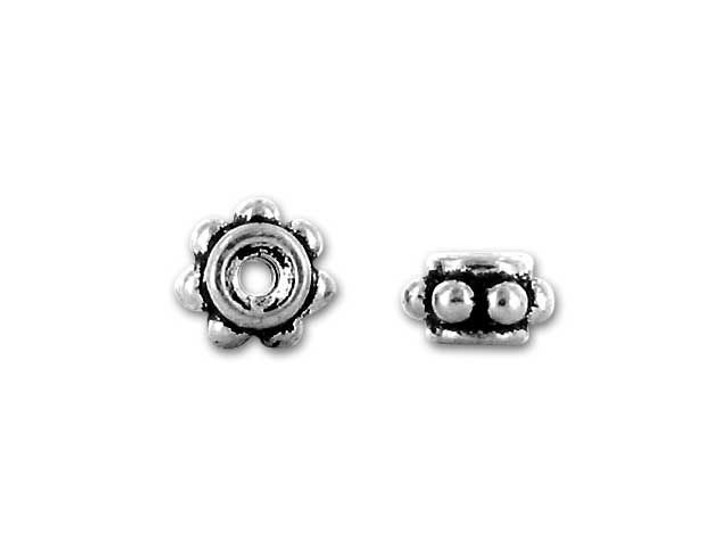 TierraCast Antique Silver 5mm Beaded Spacer