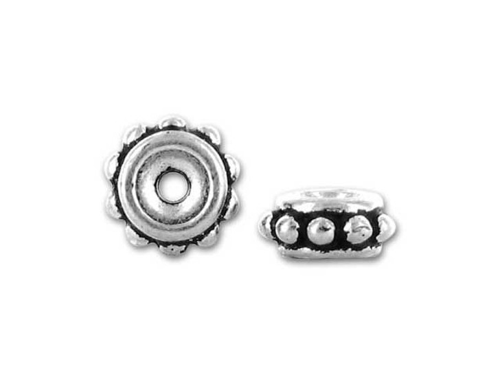TierraCast Antique Silver 6mm Beaded Spacer