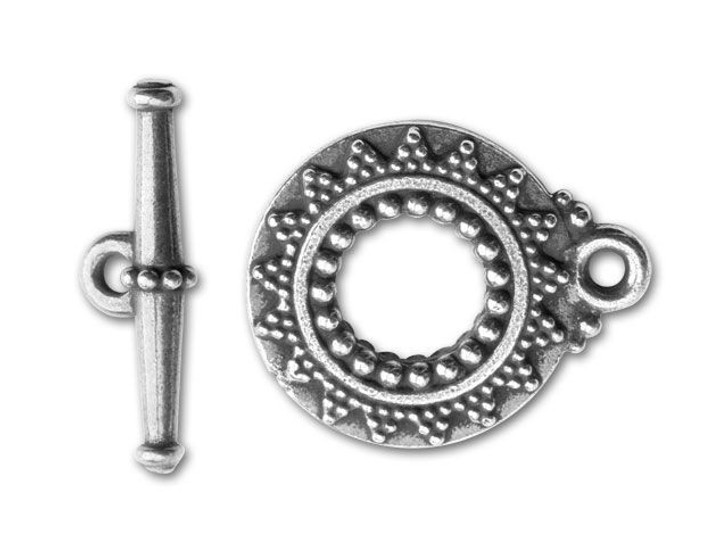 TierraCast Antique Silver Bali-Style Toggle Clasp