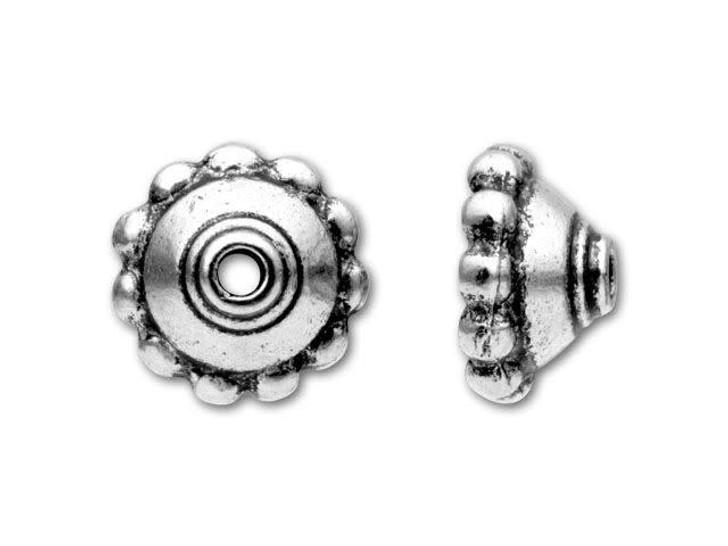 TierraCast Antique Silver Beaded Bead Cap