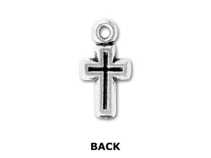 TierraCast Antique Silver Beaded Cross Pendant