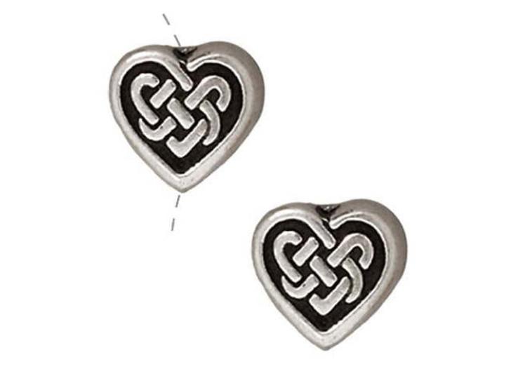 TierraCast Antique Silver Celtic Heart Bead