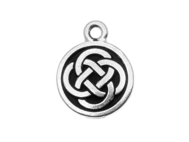 TierraCast Antique Silver Celtic Round Charm