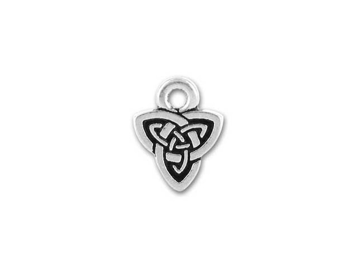 TierraCast Antique Silver Celtic Triad Charm