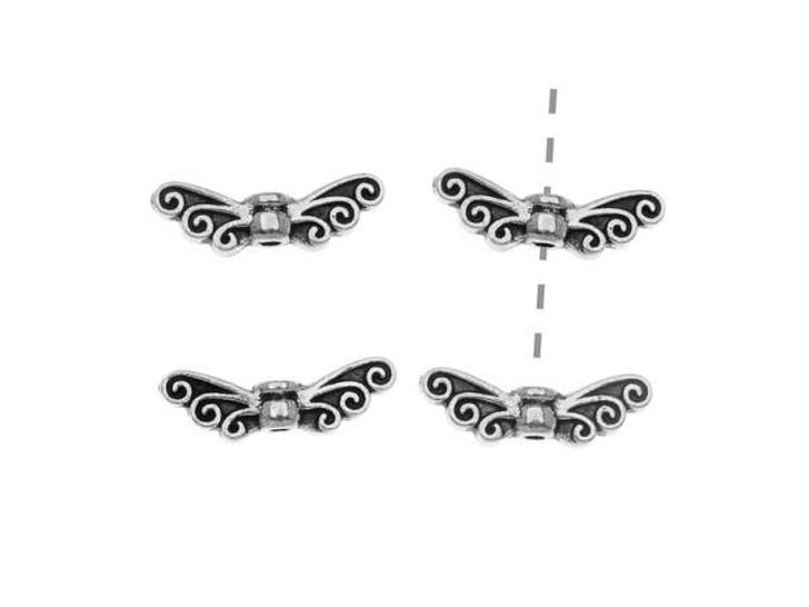 TierraCast Antique Silver Fairy Wings Bead