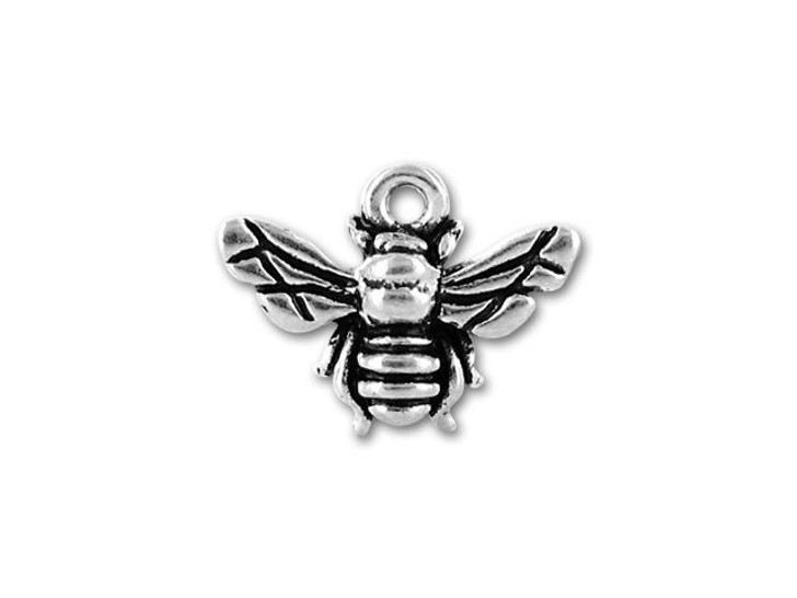 TierraCast Antique Silver Honey Bee Charm