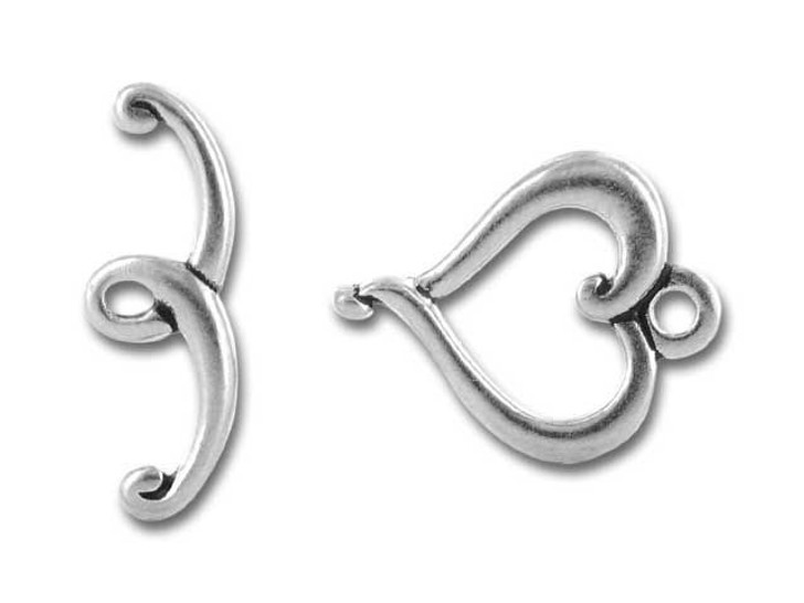 TierraCast Antique Silver Jubilee Toggle Clasp Set