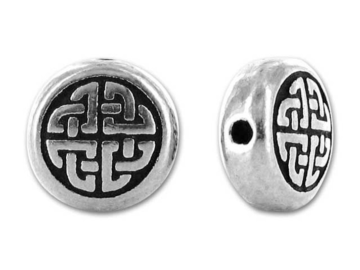 TierraCast Antique Silver Medium Celtic Circle Bead