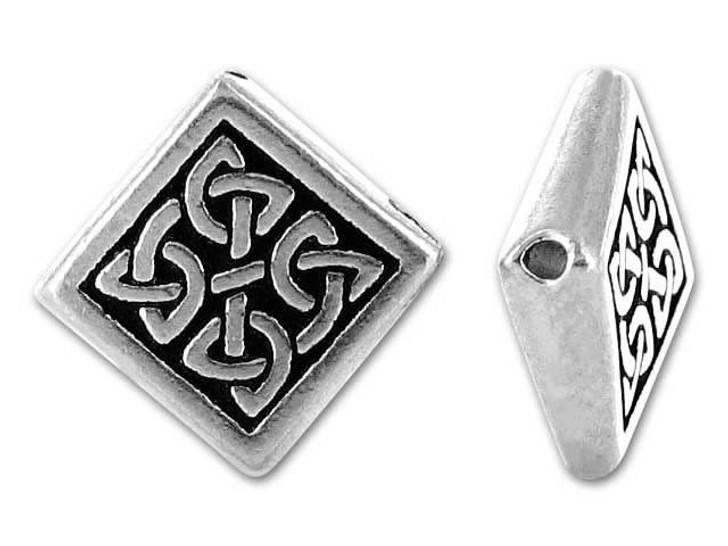 TierraCast Antique Silver Medium Celtic Diamond