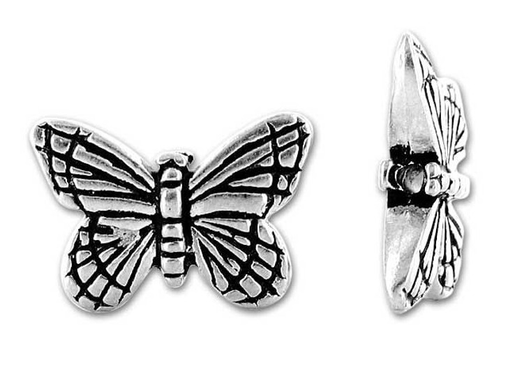 TierraCast Antique Silver Monarch Butterfly Bead