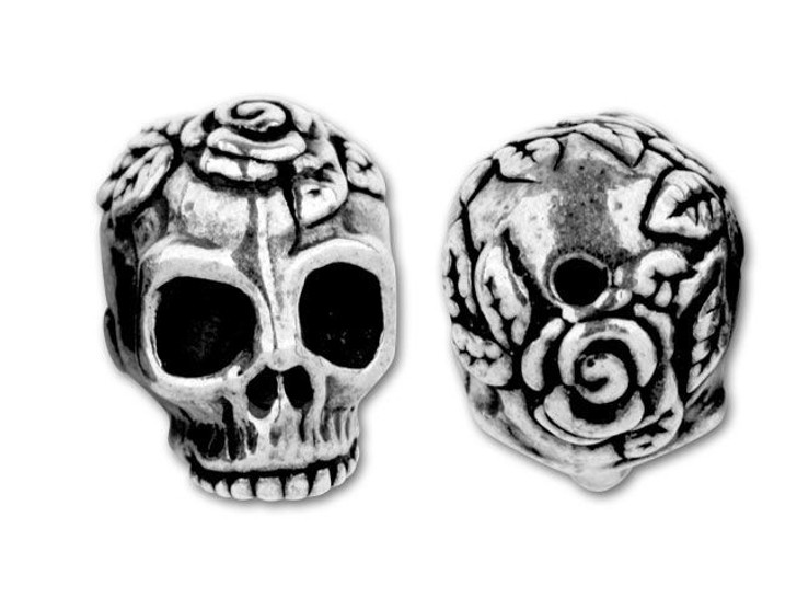 TierraCast Antique Silver Skull Bead