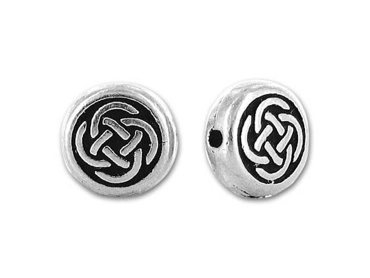 TierraCast Antique Silver Small Celtic Circle Bead